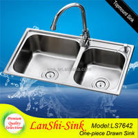 LS7642 commercial hairdressing stainless steel laundry sink for barber