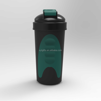 Custom Shaker cup, 600ml Protein Shaker Bottle with metal ball