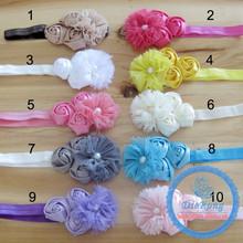 DIY top baby daisy flower crown headband elastic headband baby infant party headband