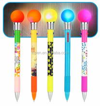 silicon gel ball light pen in knock for open light