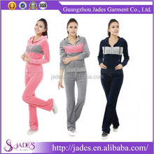 China velour tracksuits hoodies manufacturer custom velour tracksuit for women