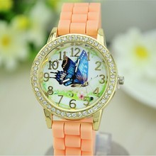 hot sale!!! wholesale Casual Geneva Watch Unisex Quartz watch charm 13color men women wristwatches Sports Watches