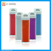 Lipstick mobile phone charger, mobile phone power bank, mobile power portable charger 1200-2600mAh