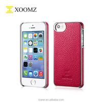 Aluminum Genuine Leather Bumper Case For Iphone 5