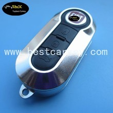 Silver color 3 button car key blanks for fiat 500 key cover key fiat with SIP22 folding blade