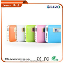 Dual USB Portable LCD 12000mah Mobile Power Pack , Laptop Mobile Power Bank