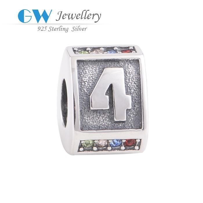 globalwin yeni 925 gümüş takı kolye toptan mektubu boncuk