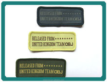 Colorful rectangle personalized embroidery patch, embroidery textile patch