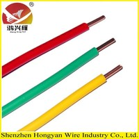 Solid Copper Core PVC Insulation Electrical Building Wire