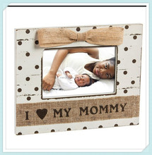 Shabby Chic Baby Loves Mommy 4X6 Wooden Picture Frame