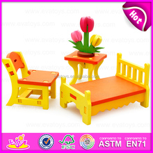 Promotional wooden furniture 3d puzzle diy toy for kids,Christmas gift wooden 3d puzzle furniture diy toy for children W03B039