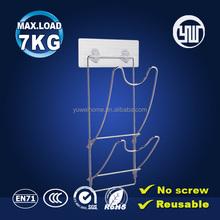 kitchen accessories metal rack wall sticky metal pot holder