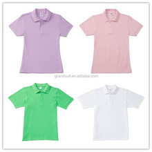 Cute woven striped couple design wholesale polo t shirt