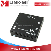 LM-SP12-Audio 3D 4Kx2K HDMI Splitter Full HD 1x2 Support EDID With Audio Extraction Via Optical Cable