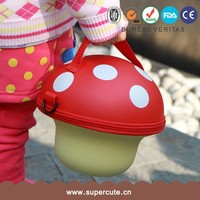 lovely children mushroom baby cartoon animal mushroom handbag