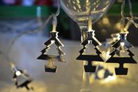 10L string mirror light battery light christmas tree
