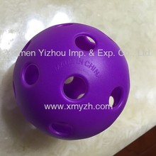 73mm Plastic Wiffle Ball With Holes On The Surface