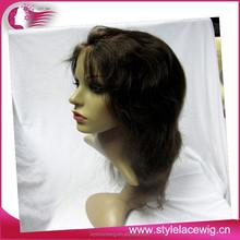 China manufacturer wholesale cheap 100% virgin brazilian human hair lace front wigs with bangs