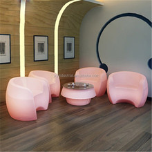 Led Lamp Outdoor PE rechargeable RGB color changeable IP68 Waterproof durable Remote Control Bar Lounge Chair