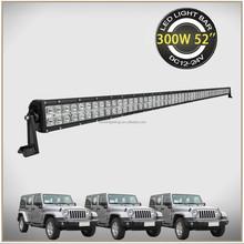 Double Row Ip67 Waterproof 300w Off Road 4X4 Spot 52 Inch ATV Led Light Bar
