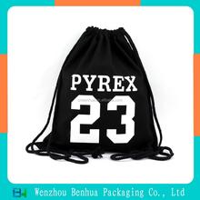 Custom blank drawstring cotton shoulder bag