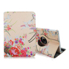 360 Rotating Colored Drawing Flower PU Leather Stand Case For Apple iPad Mini 1/2/3