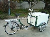 new model fashion ice cream 7 speeds adult cargo bike for sale adult tricycle cargo bike for sales