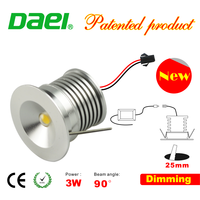 wholesale round 3w mini LED Cabinet Lights with dimmable driver