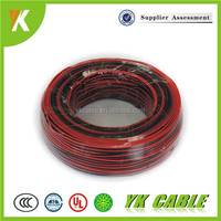 annealed stranded copper conductor black and red speaker cable pvc coated wire
