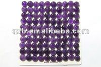 round genuine amethyst cabochon wholesale gemstone
