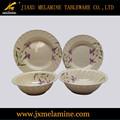 Cor de chá redonda ondulado melamina jogo de jantar de mesa