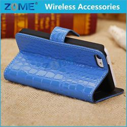 high Snap Durability Hot cell phone leather case for mobile phone nice crocodile wallet case