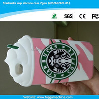 The first generation silicone protective cover case for iphone 6 plus starbucks case