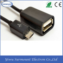 Accept Custom Best Quality USB A micro usb OTG Connection cable adapter Mobile Phone OTG Connect Kit