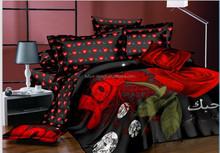 Dubai import top selling microfiber 3d print bed sheets