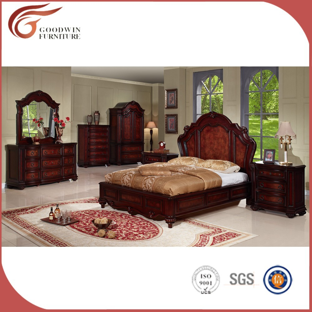Cheap classic solid wood bedroom furniture wa143 view for Chambre a coucher vintage