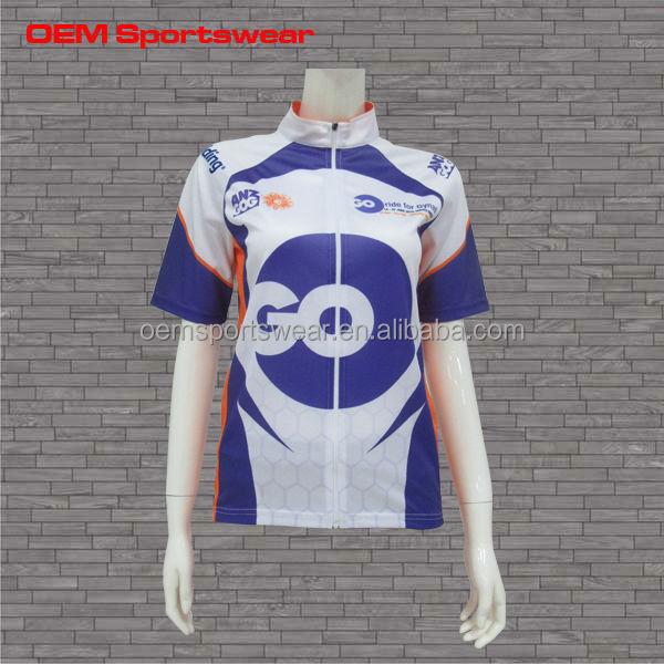 Full zipper custom sublimation cycling jersey no minimum for Custom race shirts no minimum