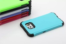 For Galaxy S6 Glossy Design Hybrid Armor TPU+PC 2in1 Rubber Defender Hard Phone Back Case Cover Fashion For Samsung G9