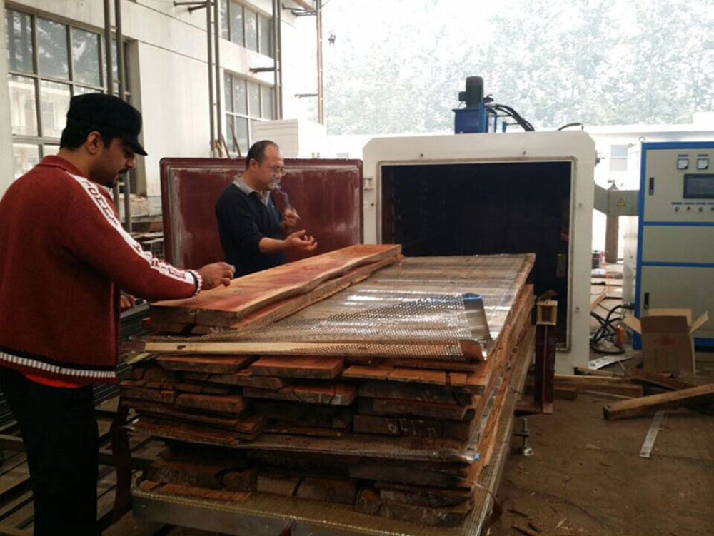 HF vacuum timber dry oven for drying mahogany and rosewood