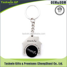 Bespoke House Shape Metal Supermarket Trolley Coin for promotion