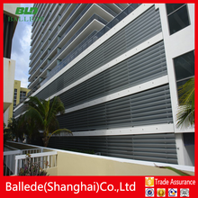 prefabricated facade systems oval blade louver from China manufacture