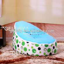 polka dots bean bag chair pattern with harness safety zip-lock