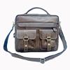Mens Vintage Leather Briefcase Attache Messenger bags business Laptop Bags Tote