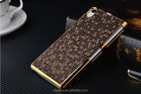 Top grade quality custom design golden PC football pattern flip cover case for Sony xperial Z1 L39H