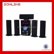 New design 5.1 home surround sound speaker with karaoke remote control