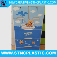 5 LAYER JUMBO PLASTIC BABY DRAWER WITH TWO LOACK AND PRINTING