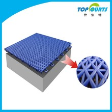 Multi-use outdoor interlocking plastic floor tiles