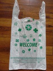 cheap excellent quality PE T-SHIRT BAGS /LDPE SHOPPING BAGS /HDPE VEST BAG