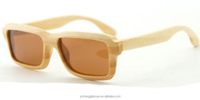 Natural bamboo eyewear big frame fashion sunglasses unisex design polarized glasses