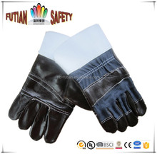 "FTSAFETY 10.5"" cow leather furniture palm rubber cuff glove with CE certification"
